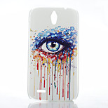 Eye Pattern Transparent Frosted PC Material Phone Case for Huawei G610