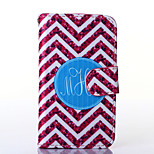 Red and White Anchor Pattern PU Leather Full Body Case with Stand for Alcatel One Touch POP C3