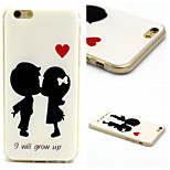 Childhood Sweetheart Pattern TPU Material Phone Case For iPhone 6