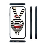 Rabbit Prison Pattern Transparent Silica Gel Edge Back Case for iPhone 6