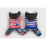 Popular High Quality Pet Clothes Blue/Rose Mixed Material/Cotton Pants/Hoodies For Dogs