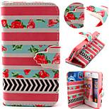 rosa Streifen-Muster mit Kartenbeutel Ganzkörper-Case für iPhone 4 / 4S