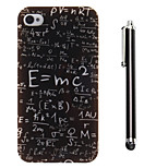 las func patrón del tpu suave hacia atrás y un lápiz táctil de la aguja para el iphone 4 / 4s