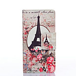 PU Painted Plum Tower Wallet Mobile Phone Case for Huawei P8