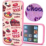 Cake and Chocolate  Pattern Plastic/TPU 2 in 1 Design Back Cover Case for iPhone5/5S
