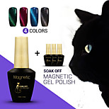 Azure 12ml 4Pcs/Lot  Magnetic Cat Eye Gel Nail Polish UV Gel Varnish Nail Art 48 Colors Available(#91+#92+#93+#94)