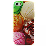 Color Ice Cream Pattern TPU Painted Soft Back Cover for iPhone 5/5S