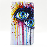 Ink Eye Pattern PU Leahter Full Body Case with Card Slot for Microsoft Lumia 640