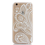 Semi Flowers Pattern Hard Back Case for iPhone 6 Plus