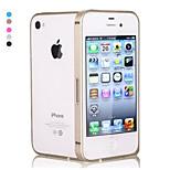 pajiatu metallo ultra-sottile cellulare struttura del respingente del telefono per il iphone 4 4s (colori assortiti)