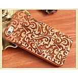 motif décoratif couverture arrière en bois solide coque de protection pour iPhone 6