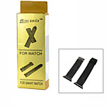 Mini smile™ Small Grid Stainless Steel Watch Band with Attachment for APPLE WATCH - Black