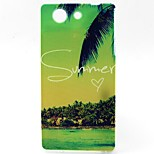 Coconut Tree Pattern TPU Material Phone Case for Sony Z3 Mini