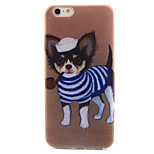 Puppy Pattern TPU Painted Soft Back Cover for iPhone 6