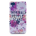 Ordinary People Pattern PC Material Phone Case for iPhone 4/4S