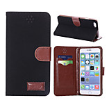 Canvas Texture Leather Case with Holder & Card Slots