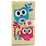 Owl  Design PU Leather Full Body Case with Stand for Sony Xperia M2