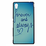 Heart Pattern PC Hard Case for Sony Xperia M4 Aqua