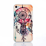 Campanula Color Pattern TPU Material Phone Case for iPhone 4/4S