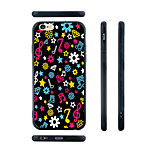 Colorful Music Note Pattern Silica Gel Edge Back Case for iPhone 6
