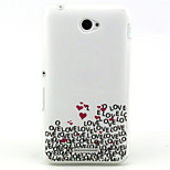 Love  Pattern TPU Soft Case for Sony E4