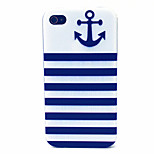 Anchors Pattern TPU Material Phone Case for iPhone 4/4S