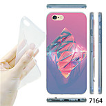 MAYCARI®Shiny Dimond Pattern TPU Soft Transparent Back Case for iPhone 6