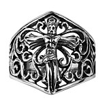 Personality Of Ancient Mayan Cross Jesus Loudiao Ring Pattern Cross Ring Punk Titanium Gift Men