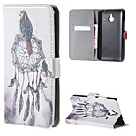 Back owl Wallet Leather Stand Cover for Microsoft Lumia 640