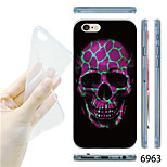 MAYCARI®Pink Skull Pattern TPU Soft Transparent Back Case for iPhone 6