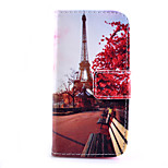 Transmission Tower Pattern PU Material Card Full Body Case for iPhone 5/5S