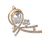 Fashion Factory Price Elegant Botique Gold Rhinestone Glass Flower Brooches fow Women
