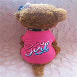 Camiseta - Verão - Rosa - Fashion - de Algodão - para Cães - XXS / S / M / L