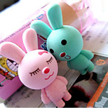 Pair of Bunny Rabbit Erasers Pencil Rubber Corrector Collectable Stationery