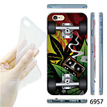 MAYCARI®Graffiti Skateboard Pattern TPU Soft Transparent Back Case for iPhone 6