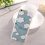 White Clouds Pattern TPU Soft Case for iphone 6