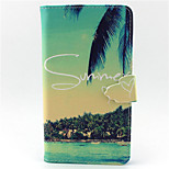 Summer Beach Pattern PU Leather Phone Case For LG G3/L90