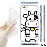 MAYCARI®Cartoon Cow Pattern TPU Soft Transparent Back Case for iPhone 6