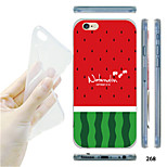 MAYCARI® Watermelon Pattern TPU Soft Transparent Back Case for iPhone 6/6S