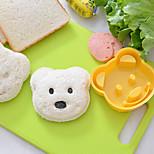 Teddy Bear Shaped Sandwich Cutter DIY Plastic Sandwich Cutting Mold