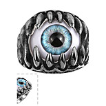 Men Punk Fashion Wind Restoring Ancient Ways of Titanium Steel Ring  European and American Creative Personality Exaggerated Eye Titani Halloween Gifts