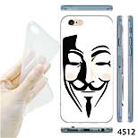 MAYCARI®V for Vendetta Mask Pattern TPU Soft Transparent Back Case for iPhone 6
