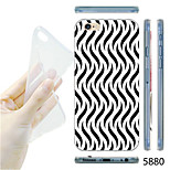 MAYCARI®Black and White Wavy Lines Pattern TPU Soft Transparent Back Case for iPhone 6