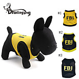 DroolingDog® Cool FBI Pattern 100% Cotton Vest for Pets Dogs (Assorted Colors Assorted Sizes)