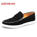 Aokang Men's Shoes Outdoor/Athletic/Casual Suede Fashion Sneakers Black/Gray