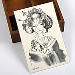 (1pcs) 2015 HOT Temporary Tattoo Waterproof Sexy Armhand Tattoo Body Art/Cool Japanese Girl/ Big Fake Tatoo Stickers