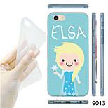 patrón de la muchacha maycari®cartoon TPU Funda trasera transparente suave para el iphone 6