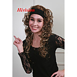 New 3/4 Wig With Headband Light Reddish Brown with Blonde highlights 26