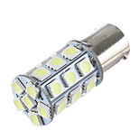 LORCOO BAY15D 1156 27 SMD 5050 LED Car Tail Stop Brake Turn Signal Light White 12V(1pc