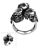 Ring Stainless Steel Skull / Skeleton Jewelry Unique Design Fashion Silver Jewelry Halloween Daily Casual Sports 1pc